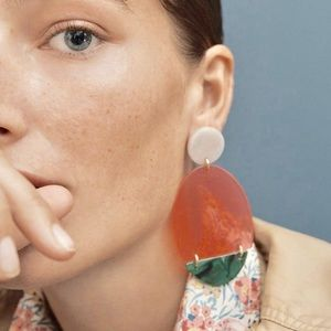 I.Crew Statement Lucite Acrylic Earrings